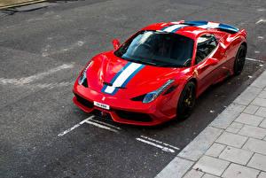 Обои Феррари Тюнинг Pininfarina Красный Металлик 2014-15 458 Speciale A авто
