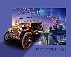 Обои Форд Винтаж KAGAYA MODEL T 1914 Авто