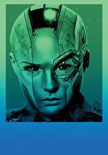 Картинка Стражи Галактики. Часть 2 Голова Инопланетяне Nebula Фильмы Фэнтези