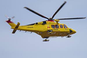 Картинки Вертолеты Желтый Полет