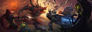Фотография Heroes of the Storm WoW Diablo StarCraft Воины Сражения Сара Керриган Abathur, Demon Hunter, Valla, Kael'thas, Murky, Tychus Игры