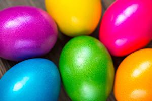 Фотография Праздники Пасха Вблизи Яйца Разноцветные