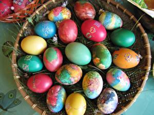 Фотография Праздники Пасха Много Яйца