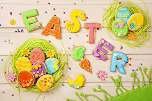 Фотографии Праздники Пасха Доски Яйца Английский Гнездо