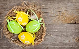 Обои Праздники Пасха Доски Яйца Гнездо