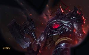 Фото League of Legends Воители Боевые топоры / Секиры Броня Sion, The Undead Champion Фэнтези