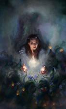 Картинка Волшебство Ведьма Девушки