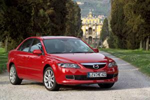 Фотографии Mazda Красный Металлик 2005-07 6 Sedan машина