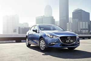 Картинки Mazda Голубой Металлик 2016 3 Maxx Hatchback авто