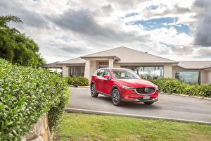 Фотографии Mazda Красная 2017 CX-5 Akera Автомобили
