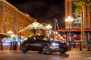 Картинка Mazda Металлик Уличные фонари Улица 2017 MX-5 Miata RF авто