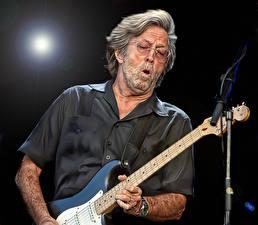 Фотографии Мужчины Гитара Eric Patrick Clapton Музыка