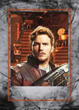 Картинки Мужчины Стражи Галактики. Часть 2 Крис Прэтт Красивые Star-Lord Фильмы