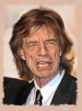 Обои Мужчины Лицо Mick Jagger, Rolling Stones Музыка