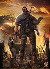 Фотография Metal Gear Воители Собаки Мужчины Повязка на глаз Solid V The Phantom Pain, Big Boss, Punished Snake, The legendary soldier