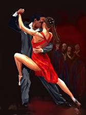 Фотографии Рисованные Танцует 2