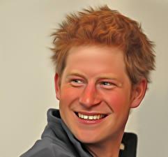 Картинки Голова Улыбка Рыжий Милые Princ Heenry Charles Albert David Mountbatten-Windsor Знаменитости