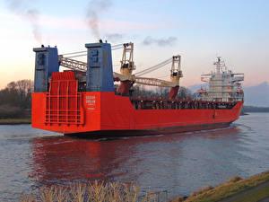 Картинка Корабли Контейнеровоз Море Вид ro-ro cargo ship