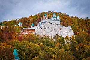 Обои Храмы Монастырь Украина Sviatohirsk Holy Mountains Lavra