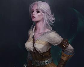 Обои Ведьмак 3: Дикая Охота Блондинка Cirilla Ciri Фэнтези Девушки