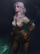 Картинка Ведьмак 3: Дикая Охота Воины Блондинка Cirilla Ciri Девушки Фэнтези