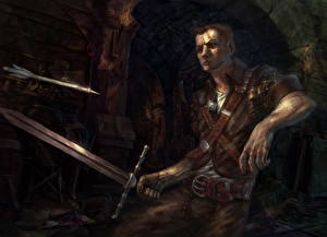 Обои Ведьмак 3: Дикая Охота Воители Мечи Фэнтези