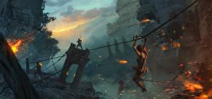 Картинки Tomb Raider 2013 Воин Лара Крофт