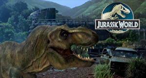 Картинки Тираннозавр рекс Динозавры Мир юрского периода Голова Оскал