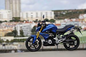 Обои БМВ Сбоку Синий 2015-16 G 310 R Мотоциклы