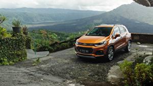 Обои Chevrolet Оранжевый Металлик 2017 Trax Asia RHD