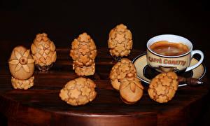 Фото Кофе Выпечка Печенье Чашка Яйца Дизайн Еда