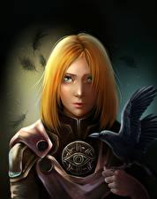 Фотографии Dragon Age Вороны Воины Рыжая Leliana Игры Девушки Фэнтези