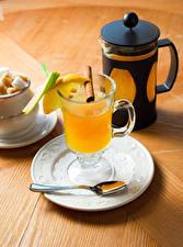 Фотографии Напитки Чай Кружка Ложка Продукты питания