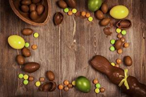 Фото Пасха Шоколад Кролики Яйца