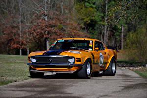 Картинка Форд Ретро Тюнинг Оранжевый 1970 Mustang Boss 302 Trans-Am Race Car