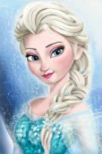 Картинка Холодное сердце Disney Косички Queen Elsa Мультики Девушки