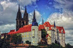 Картинка Германия Замки Небо Albrechtsburg