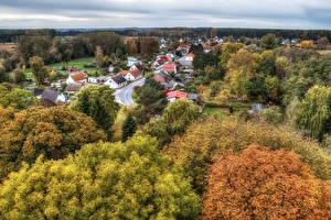 Фотографии Германия Дома HDRI Дерево Gristow Города