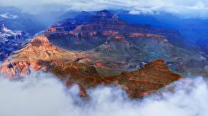 Обои Гранд-Каньон парк Штаты Парки Облака Утес Природа