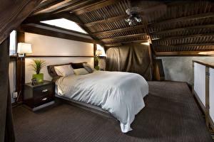 Фото Интерьер Дизайн Спальня Кровать Лампа