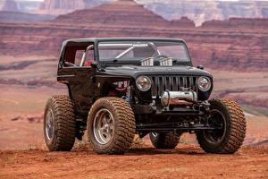 Обои Jeep Черные 2017 Quicksand Concept Автомобили