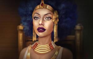 Фотографии Украшения Лицо Серьги Cleopatra Девушки