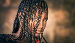 Картинка Негр Волосы Смотрит Коса Joachim Bergauer Девушки