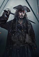 Картинки Johnny Depp Мужчины Пираты Пираты Карибского моря: Мертвецы не рассказывают сказки Знаменитости