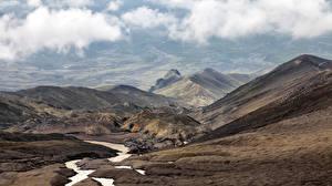 Фотографии Камчатка Россия Горы Природа