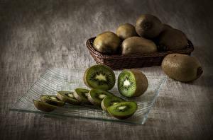 Фотография Киви Вблизи Натюрморт Нарезанные продукты Еда