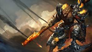 Фото League of Legends Воины Броня Wukong Фэнтези