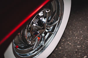 Картинки Макросъёмка Вблизи Шевроле Колеса Bel Air Автомобили