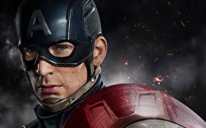 Фотография Маски Капитан Америка герой Мужчины Chris Evans Лицо Captain America: Civil War Фильмы Знаменитости