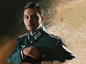 Картинки Мужчины Рисованные Thomas Kretschmann Знаменитости